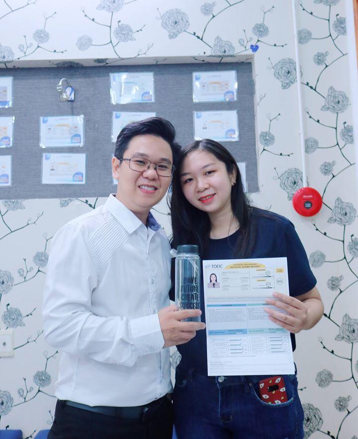 Quỳnh Vân đạt chứng chỉ TOEIC 855