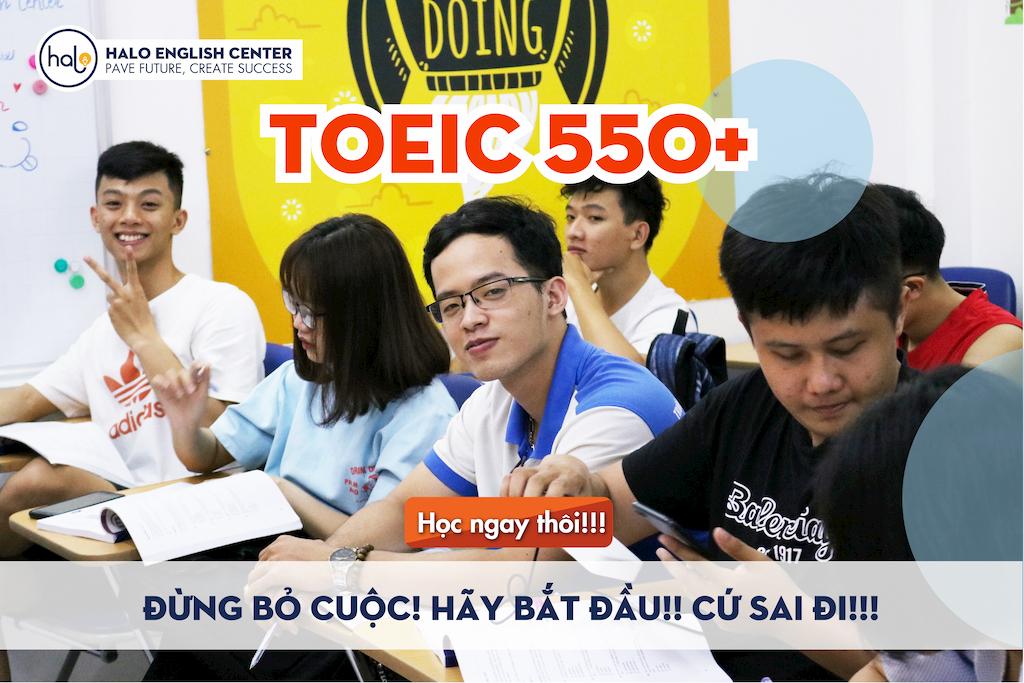 Lớp luyện thi TOEIC 550+