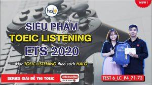 Giải đề ETS 2020 Listening Part 4 Test 6