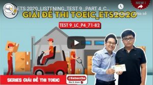 Giải đề ETS 2020 Listening Part 4 Test 9