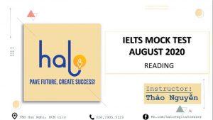 Hướng dẫn giải đề IELTS Reading Mock Test 2020