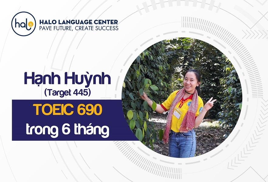 Phản hồi học viên Hạnh Huỳnh TOEIC 690