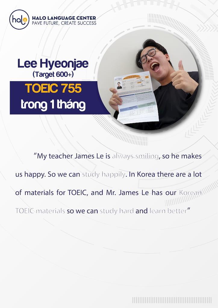 Lee Hyeongjea đánh giá khóa học Toeic