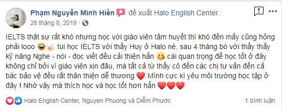 Feedback Minh Hiền IELTS