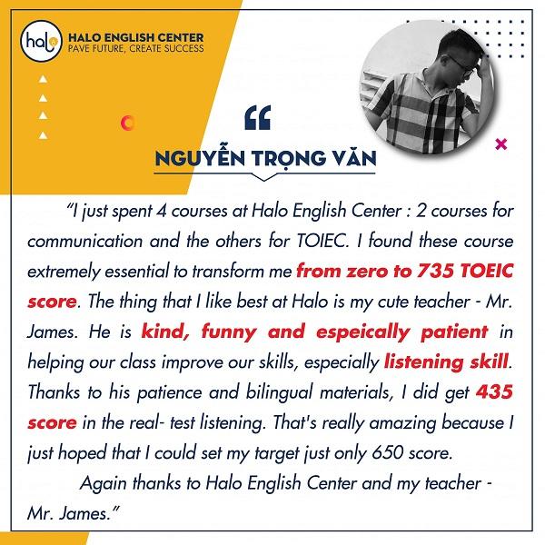 Nguyễn Trọng Văn khóa học TOEIC 650+