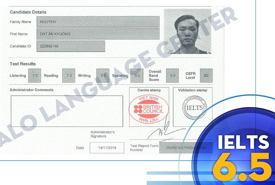 Chung Chi IELTS 6.5 Nguyen Dat An Khuong