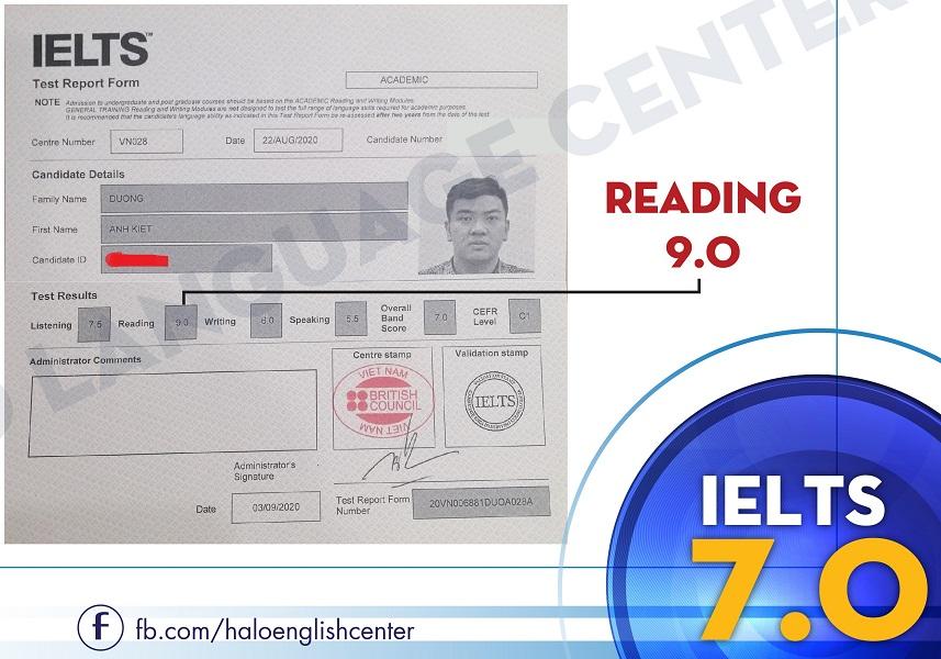 Chung Chi IELTS 7.0 Duong Anh Kiet