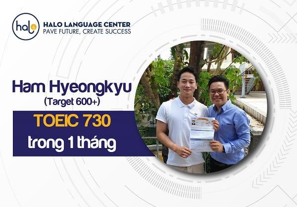 Feedback học viên Ham Hyeingkyu TOEIC 730