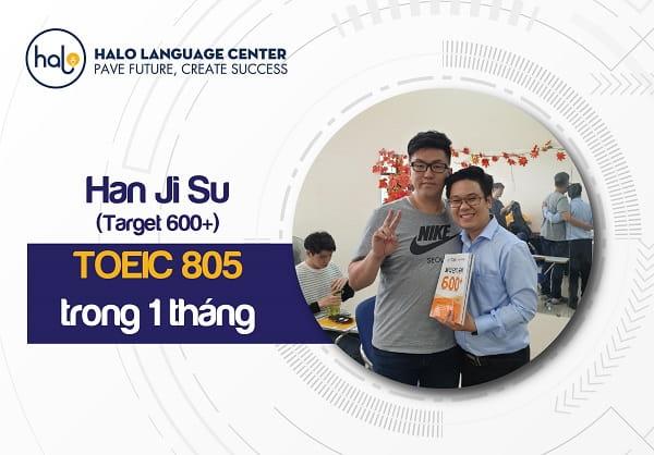 Feedback học viên Han Ji Su TOEIC 805
