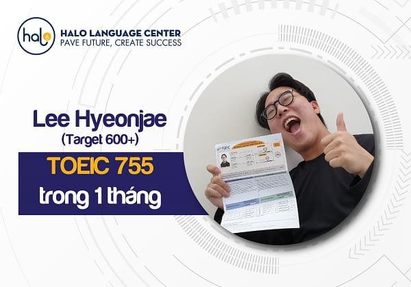Phản hồi học viên Lee Hyeonjae toeic 755
