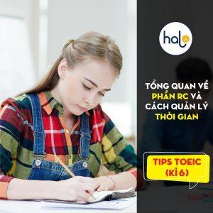 TIPs TOEIC Kì 6: Tổng quan về phần RC - cách quản lý thời gian