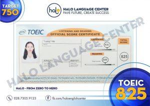 Feedback học viên Trương Ý Nhi TOEIC 825