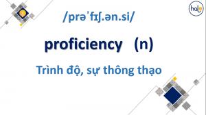 Từ Vựng TOEIC Proficiency