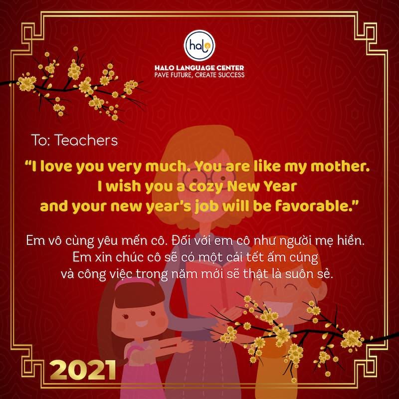 Lời chúc tết bằng tiếng Anh ý nghĩa dành cho thầy cô