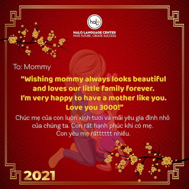 Lời chúc tết bằng Tiếng Anh ý nghĩa dành cho mẹ