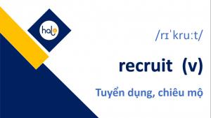 Tu Vung TOEIC Day 49 recruit