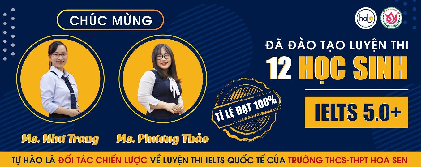 12 Hoc Vien Hoa Sen Dat IELTS 5