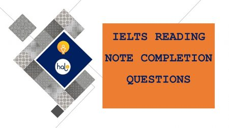 IELTS Reading Note Completion Questions