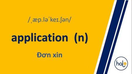 Từ Vựng TOEIC Mỗi Ngày 93 application
