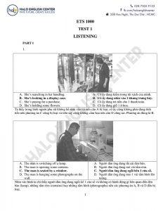 Giải đề ETS 2019 Test 1 Song Ngữ