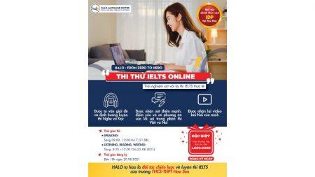 Lịch thi Thử IELTS Online Tháng 8