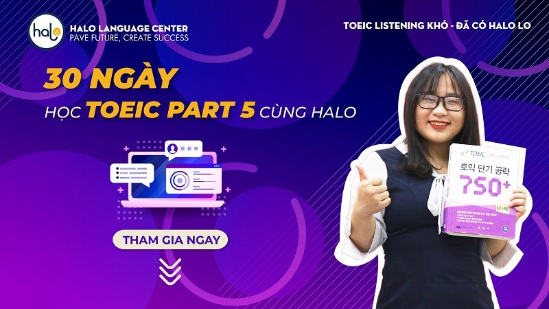 30 ngay hoc TOEIC Part 5 cung Halo