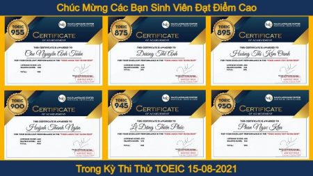 Chuc mung cac ban dat diem cao trong kỳ thi thử TOEIC Online