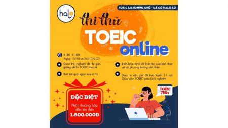 Thi Thử TOEIC Online Tháng 10 nhận ngay quà khủng